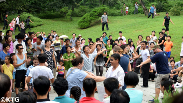 Moran Park on Liberation Day in Pyongyang, capital city of North Korea (DPRK) with KTG Tours