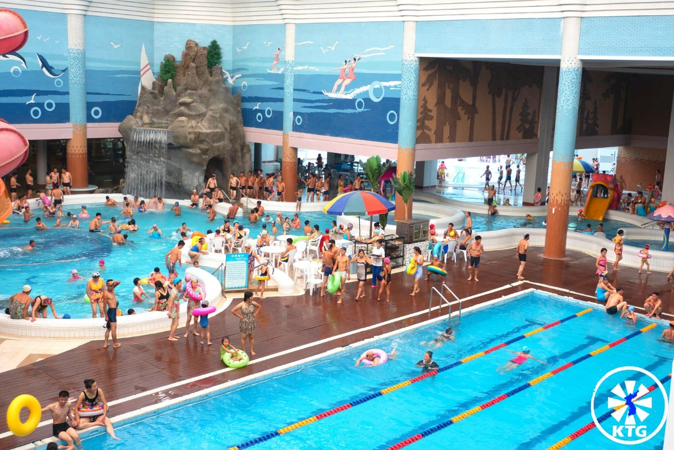 Munsu Waterpark in Pyongyang in North Korea with KTG tours. Check out the slides and have fun with North Koreans!