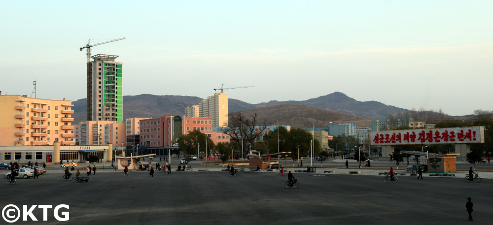 Views from the Najin Hotel in Rason, North Korea. Rajin and Sonbong make up a special economic zone in the DPRK