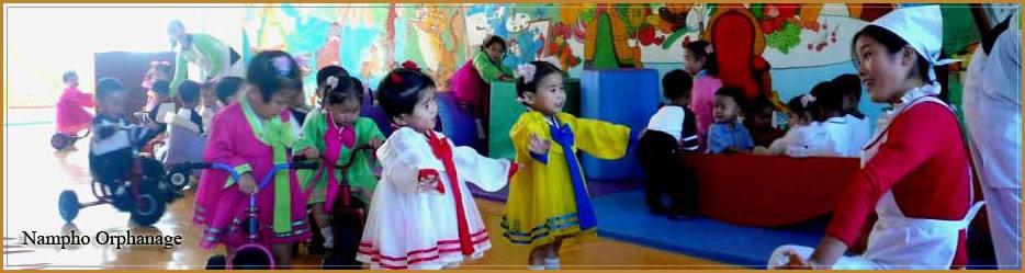 Orfanato en Nampo, Corea del Norte