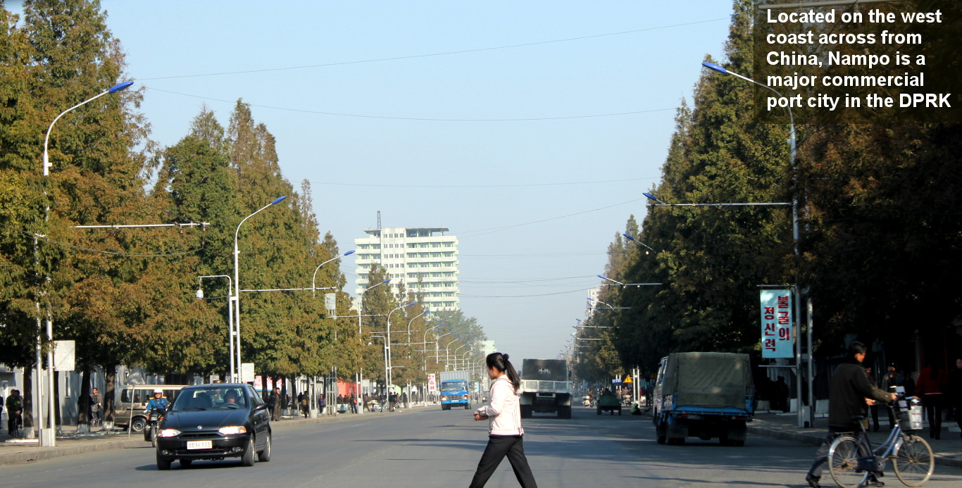 downtown Nampo on the west coast of North Korea (DPRK). KTG arranges trips all around North Korea as well as Korean language courses in Pyongyang