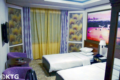 Chongnyon Hotel room, Pyongyang capital of North Korea