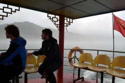 Boat ride near Dandong and North Korea