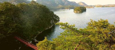 Samil lagoon in Mount Kumgang, North Korea