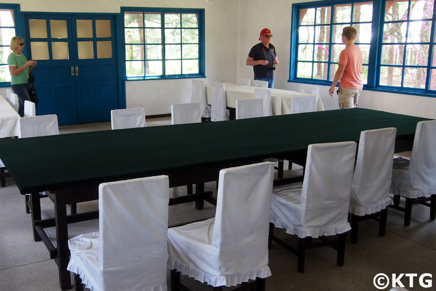 Hall of Armistice Talks in Panmunjom at the DMZ North Korea with KTG Tours