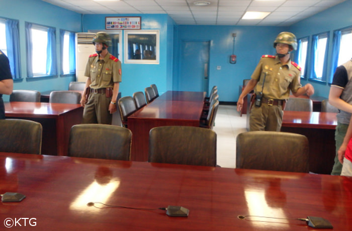 Negotiation rooms at the DMZ, North and South Korea
