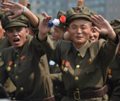 Military parade in North Korea