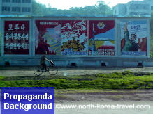 North Korean cycling in the summer in DPRK