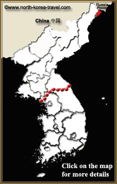 Mapa de Rason en Corea del Norte (Rajin y Sonbong)