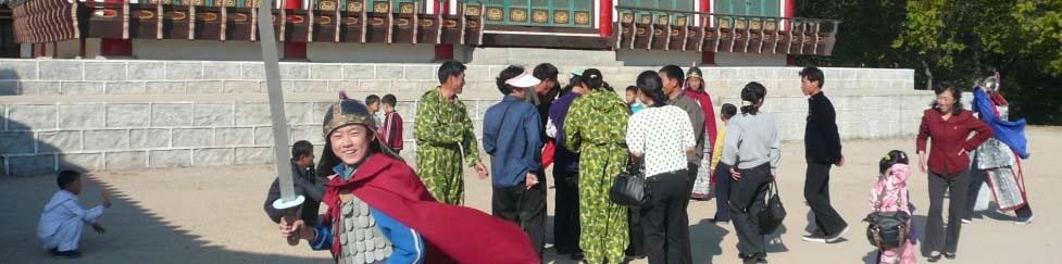 North Korean families in the DPRK film studio