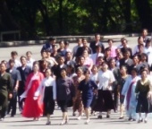 North Koreans at Mount Myohyang