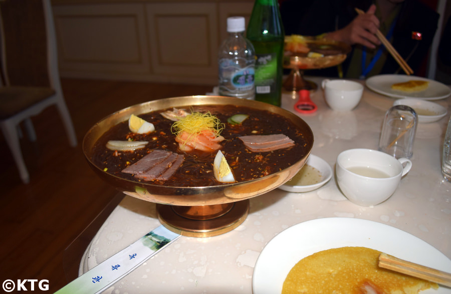 Bowl of cold noodles in the Okryugwan in Pyongyang, North Korea, DPRK. Picture taken by KTG Tours
