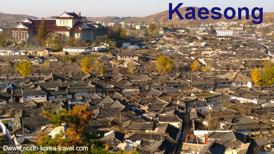Vielle partie de Kaesong, ville en Corée du Nord
