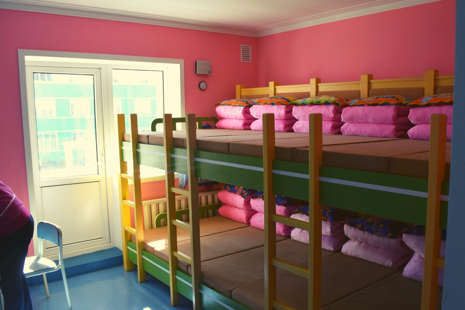 Dormitory at an orphanage in North Korea. Visit arranged by KTG