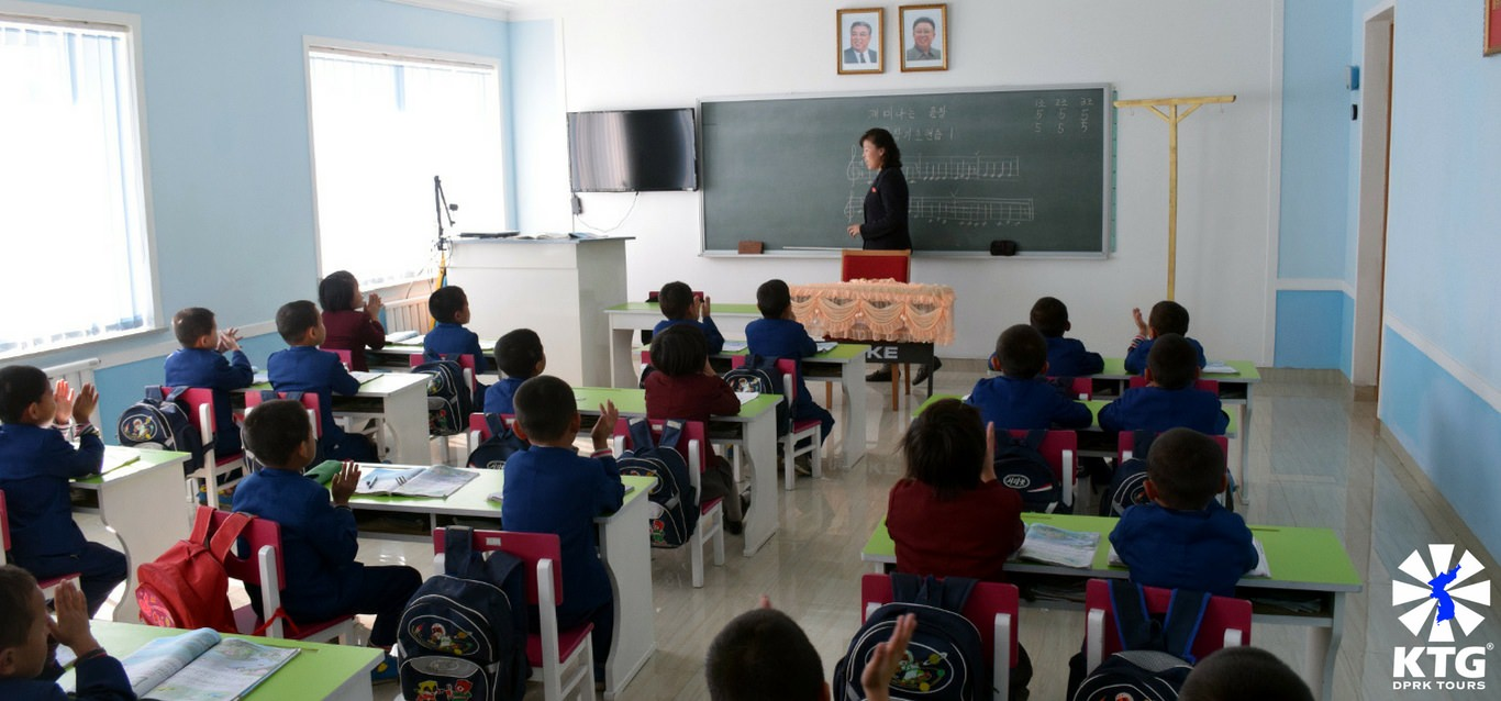 music class at an orphanage in North Korea with KTG