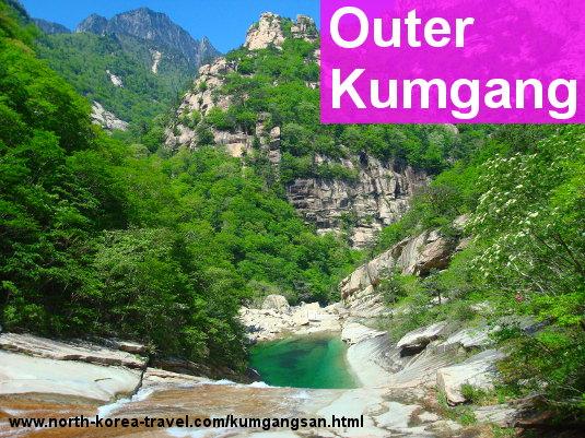 Piscinas naturales Sangpal en el Monte Kumgang, Corea del Norte (RPDC)
