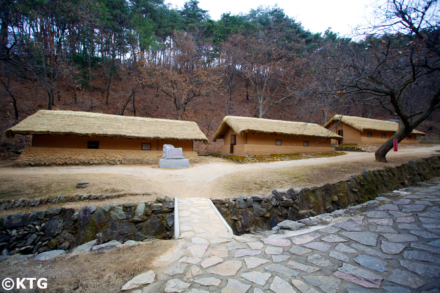 Former student dorms at the Paeksongri revolutionary site near Pyongsong city, DPRK (North Korea). This hidden site in a valley in South Pyongan province is where Kim Il Sung University was relocated during the Korean War. Join KTG Tours to visit North Korea!