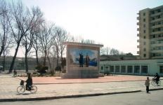 Murale en Coree du Nord