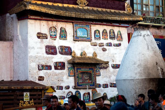 Pilgrims around Jokhang temple in Lhasa, Tibet, China