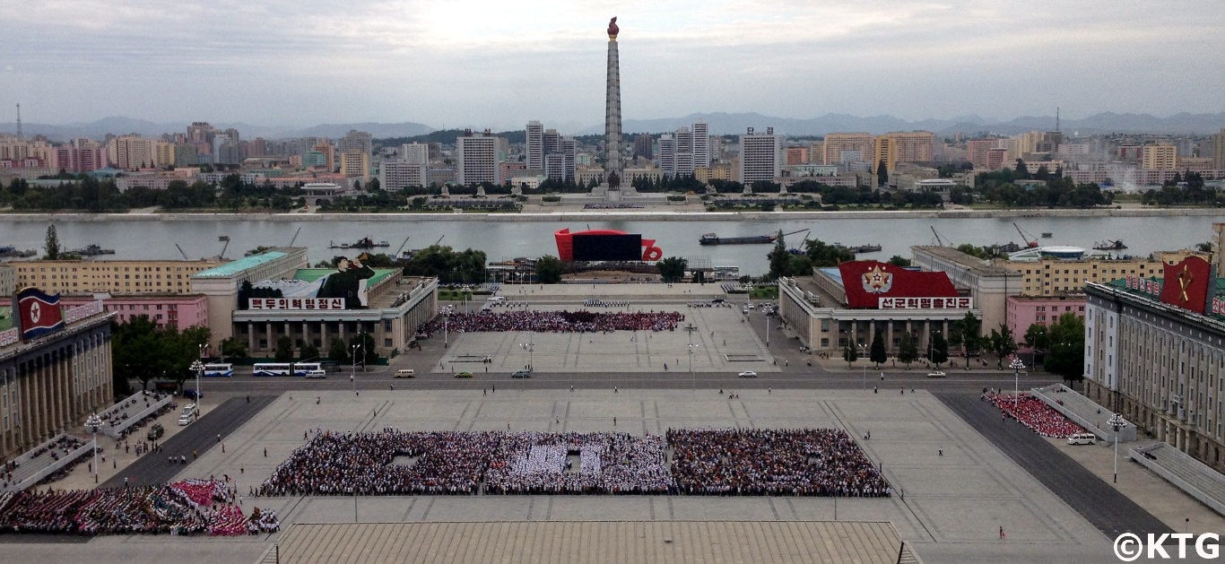 Views of Kim Il Sung Square from the Grand People's Study House
