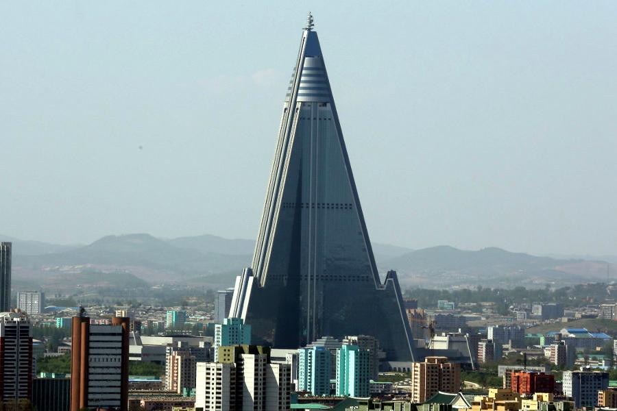 l'hôtel Ryugong à Pyongyang capitale de la Corée du Nord avec KTG Tours