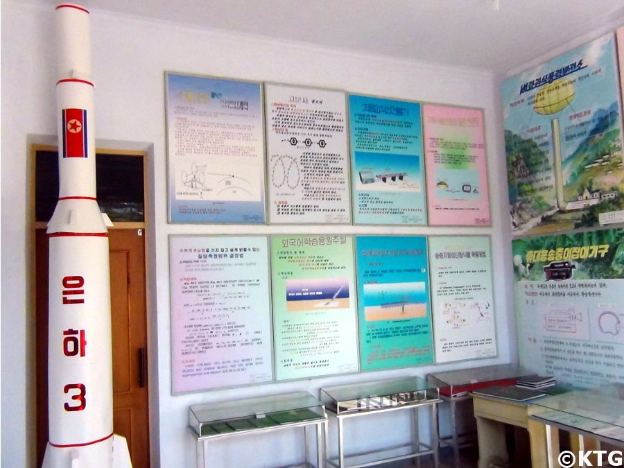 Rocket at Pyongsong middle school in North Korea, DPRK. Picture taken by KTG Tours