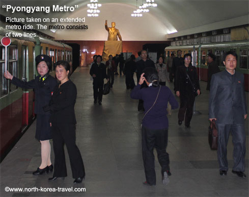 Extended ride on the Pyongyang metro
