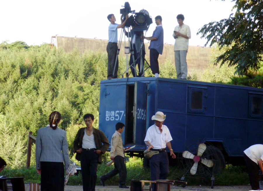 Filming of a DPRK movie during one of our trips to the Korean Film Studios