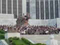 Grupo de trabajadores en Corea del Norte