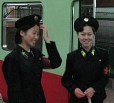 empleadas del metro de Pyongyang