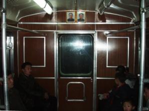 paseo en el metro de Pyongyang