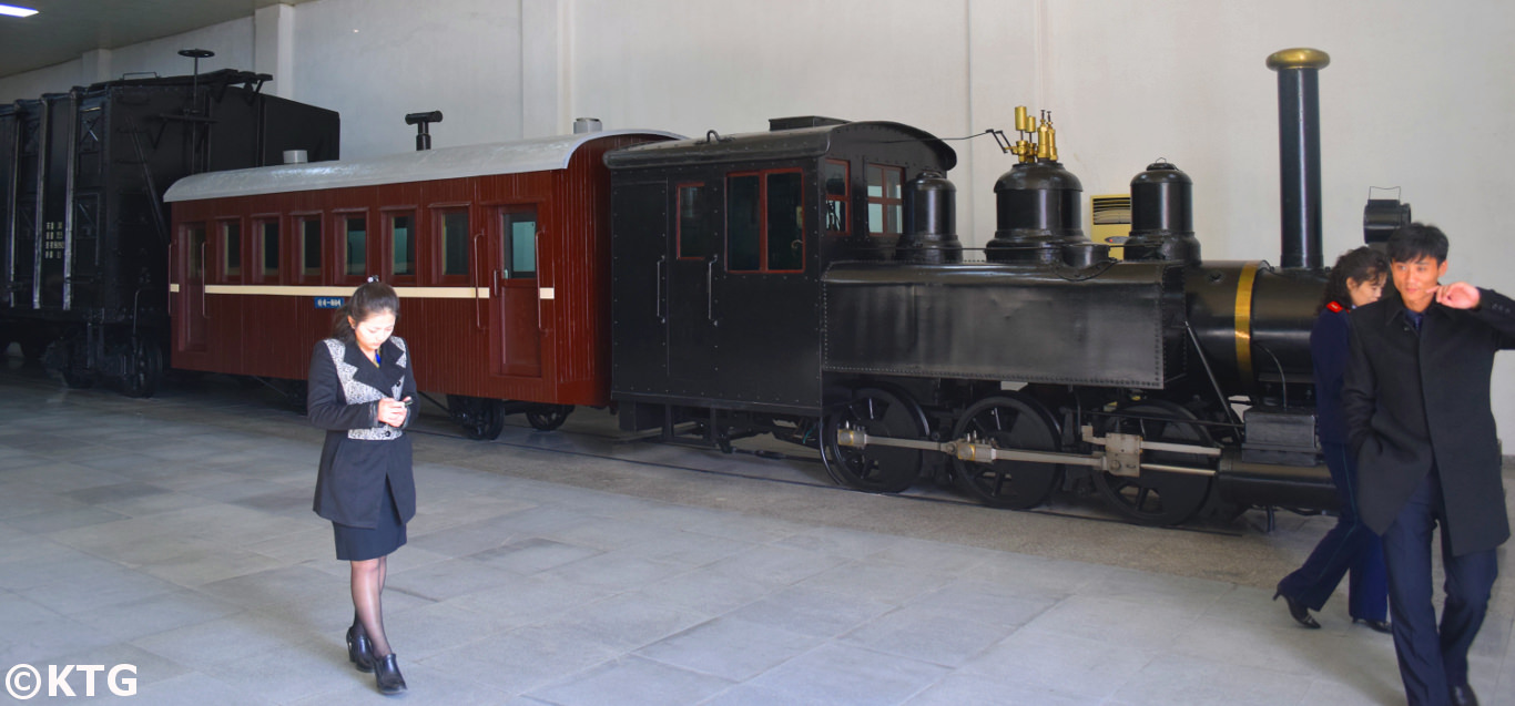 Old trains in the Railway Museum in Pyongyang, North Korea