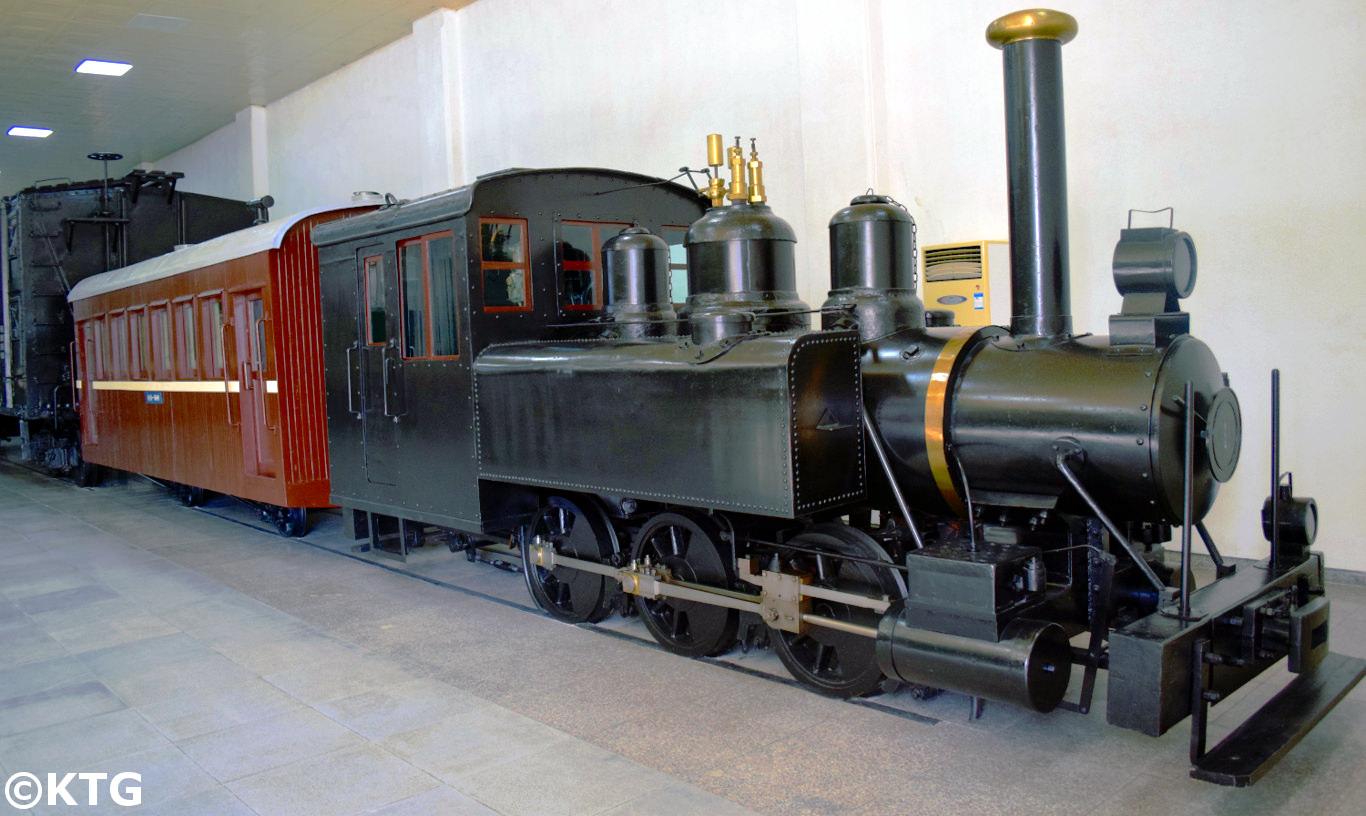 Trains au musée des Chemins de fer à Pyongyang