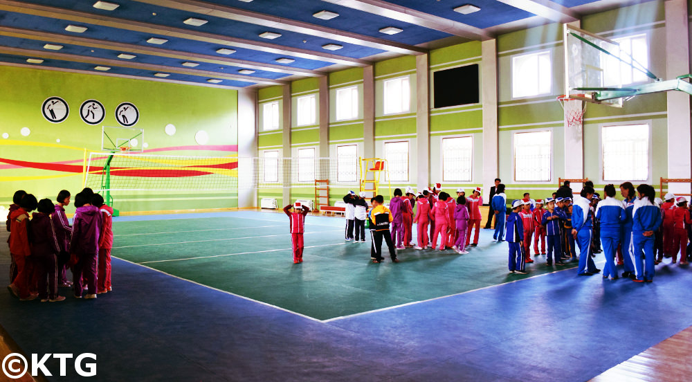 PE lesson at Rajin orphanage in Rason, North Korea
