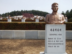 cimetiere des martyrs revolutionaires à Pyongyang