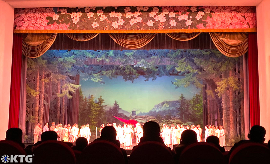 Revolutionary Opera at the Pyongyang Grand Theatre in North Korea, DPRK. Tour arranged by KTG Tours