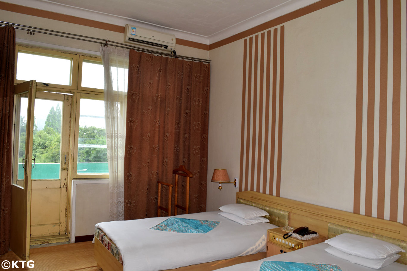 Room at the Songdowon Hotel in Wonsan city, Kangwon province, North Korea (DPRK). Trip arranged by KTG Tours