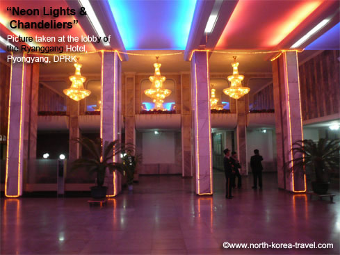 Ryanggang Hotel lobby in Pyongyang, North Korea