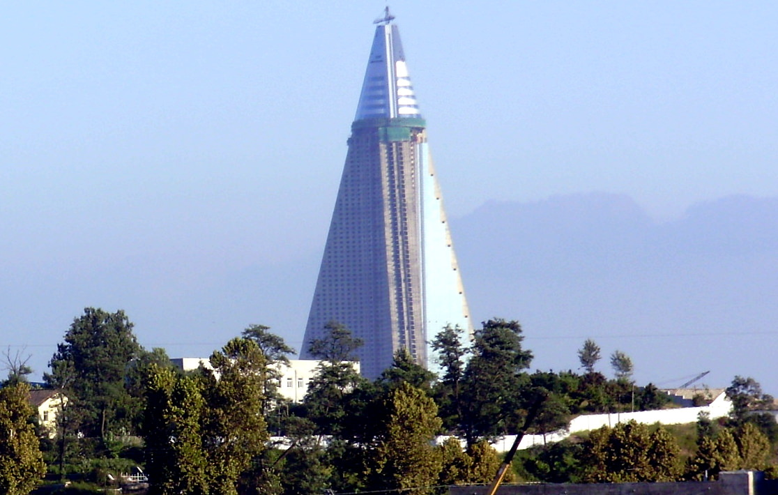 Ryugyong Hotel in 2009. KTG tours