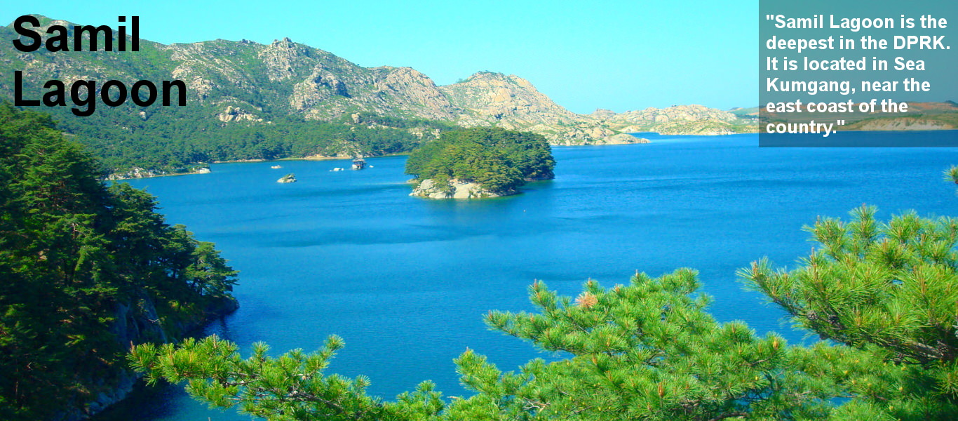 Samil lagoon, Mount Kumgang, in North Korea. Trip arranged by KTG tours