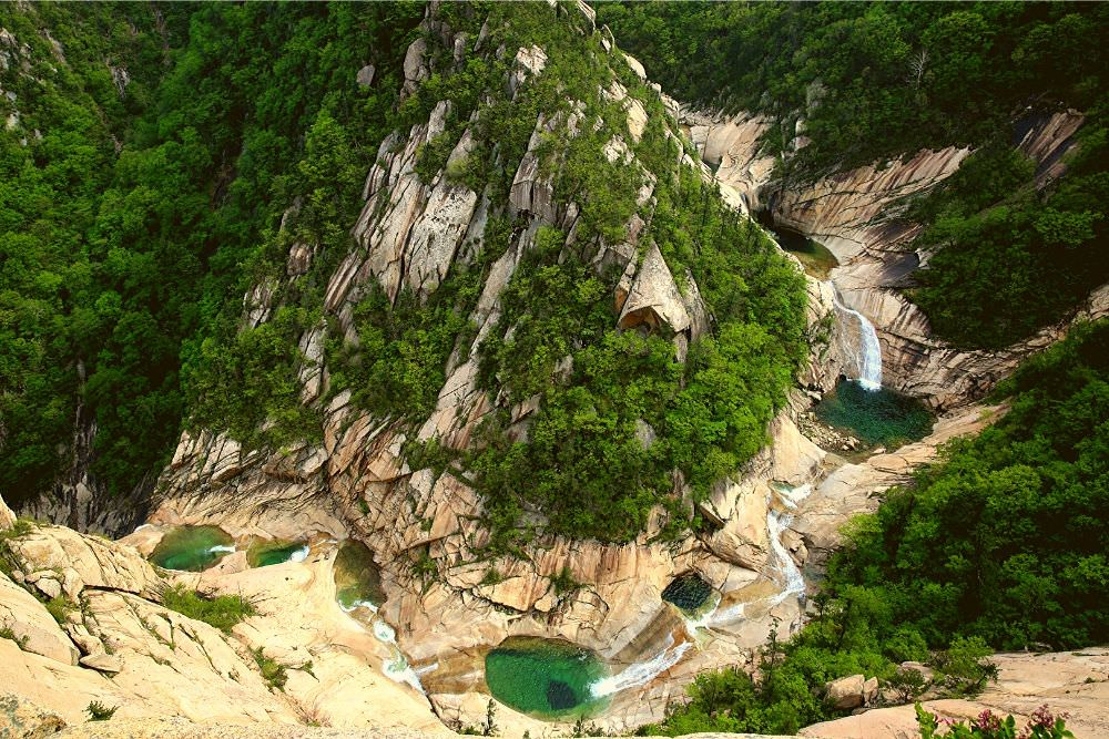 Mount Kumgang in North Korea - image of the Sangpal pools. Visit this natural park with KTG Tours