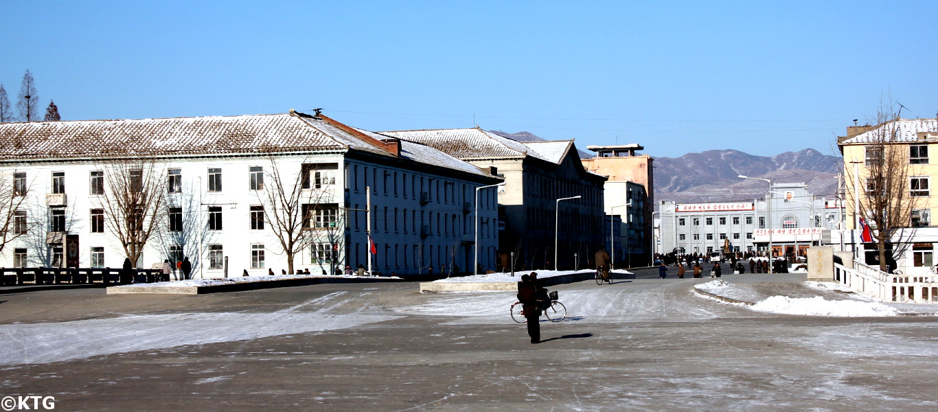Sariwon train station. This is the provincial capital of North Hwangahe province. Picture taken by KTG Tours