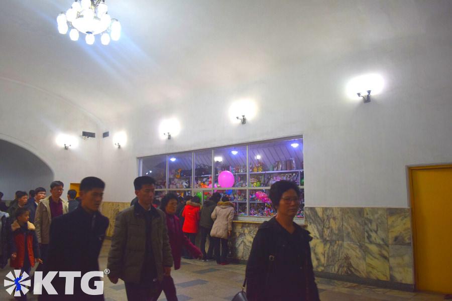 Shop inside a Pyongyang metro station