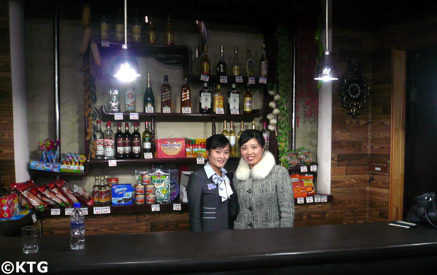 Ladies at a bar in North Korea at the Sinsunhang hotel Hamhung, the second largest city of the DPRK. Picture taken by KTG Tours