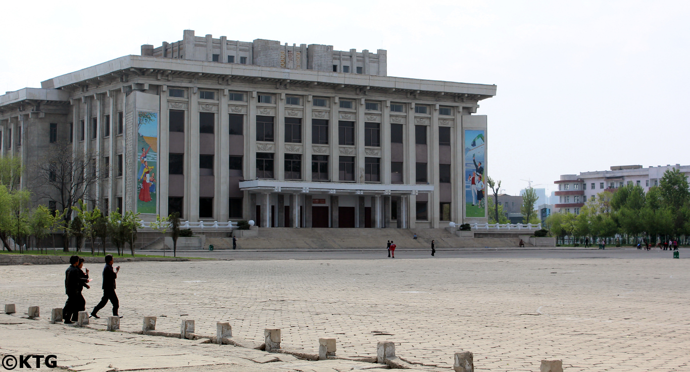 Central Square in Sinuiju, North Korea (DPRK)