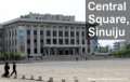 Plaza Central de Sinuiju en Corea del Norte