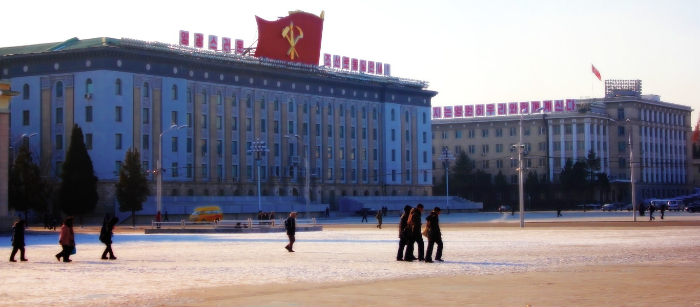 Kim Il Sung Square on a winter day