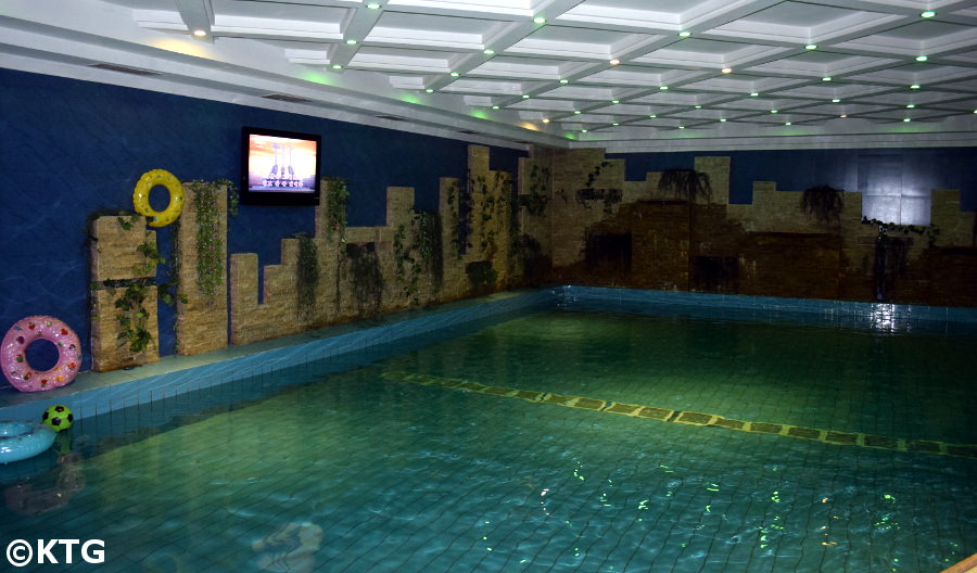 Swimming pool in the Sosan Hotel, Pyongyang (North Korea)
