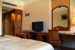 Standard room at the Hyangsan Hotel in North Korea with KTG Tours