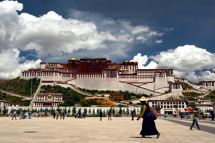 Potala Palace in Lhasa, Tibet, China